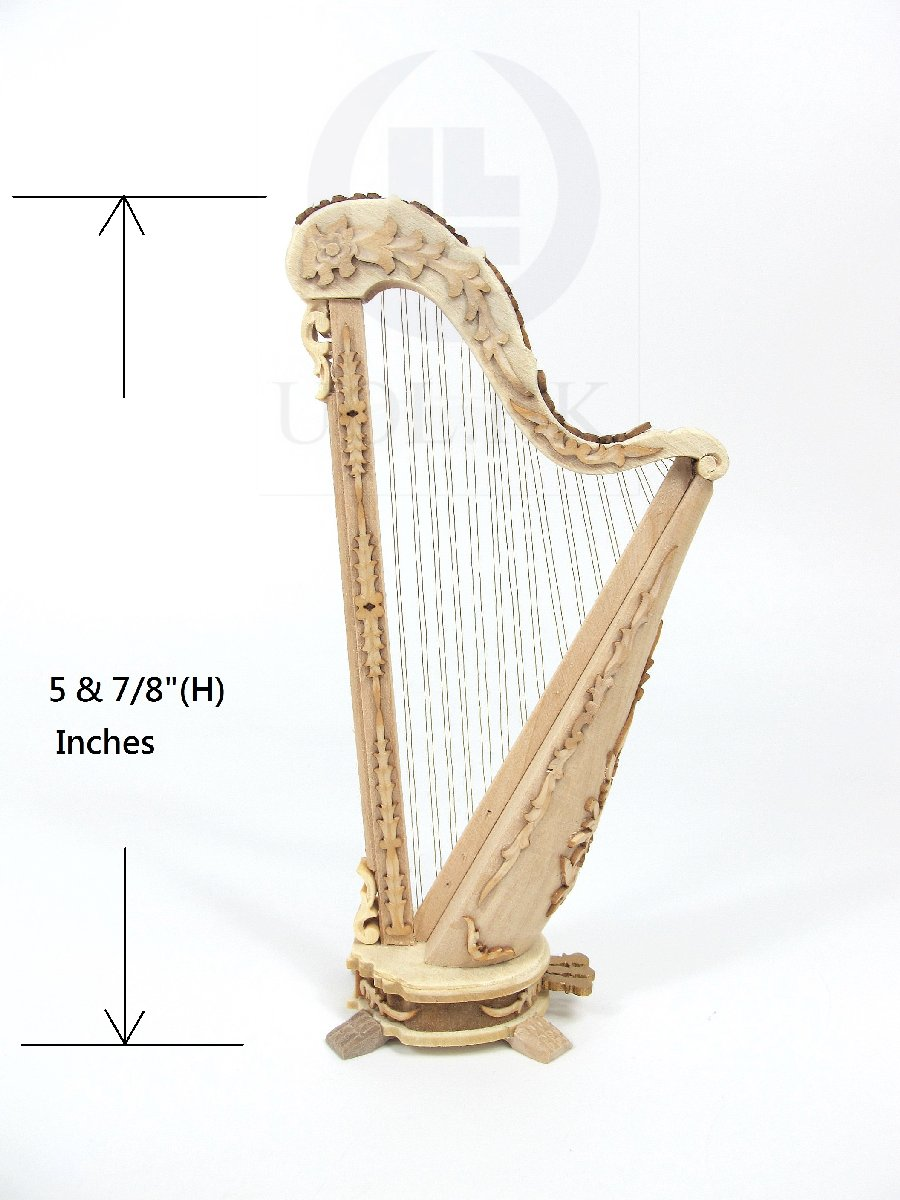 Miniature 1:12 Scale Of Doll House Harp [Unfinished]