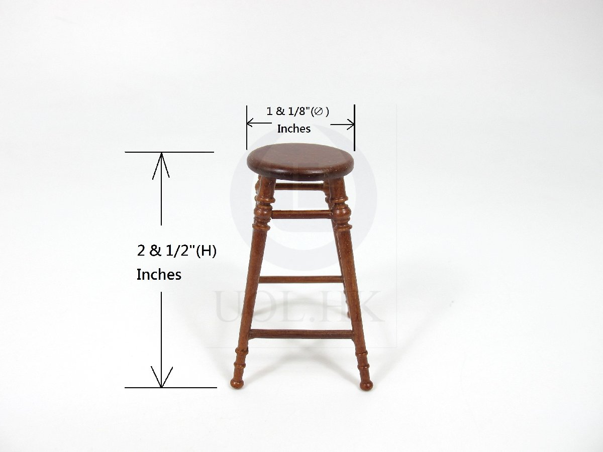 Miniature 1:12 Scale The Helen's Stool for Dollhouse [WN]
