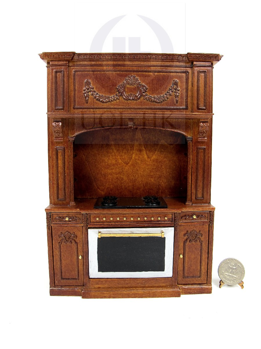 1:12 Scale French Provincial Glamorous Stove Cabinet [WN]