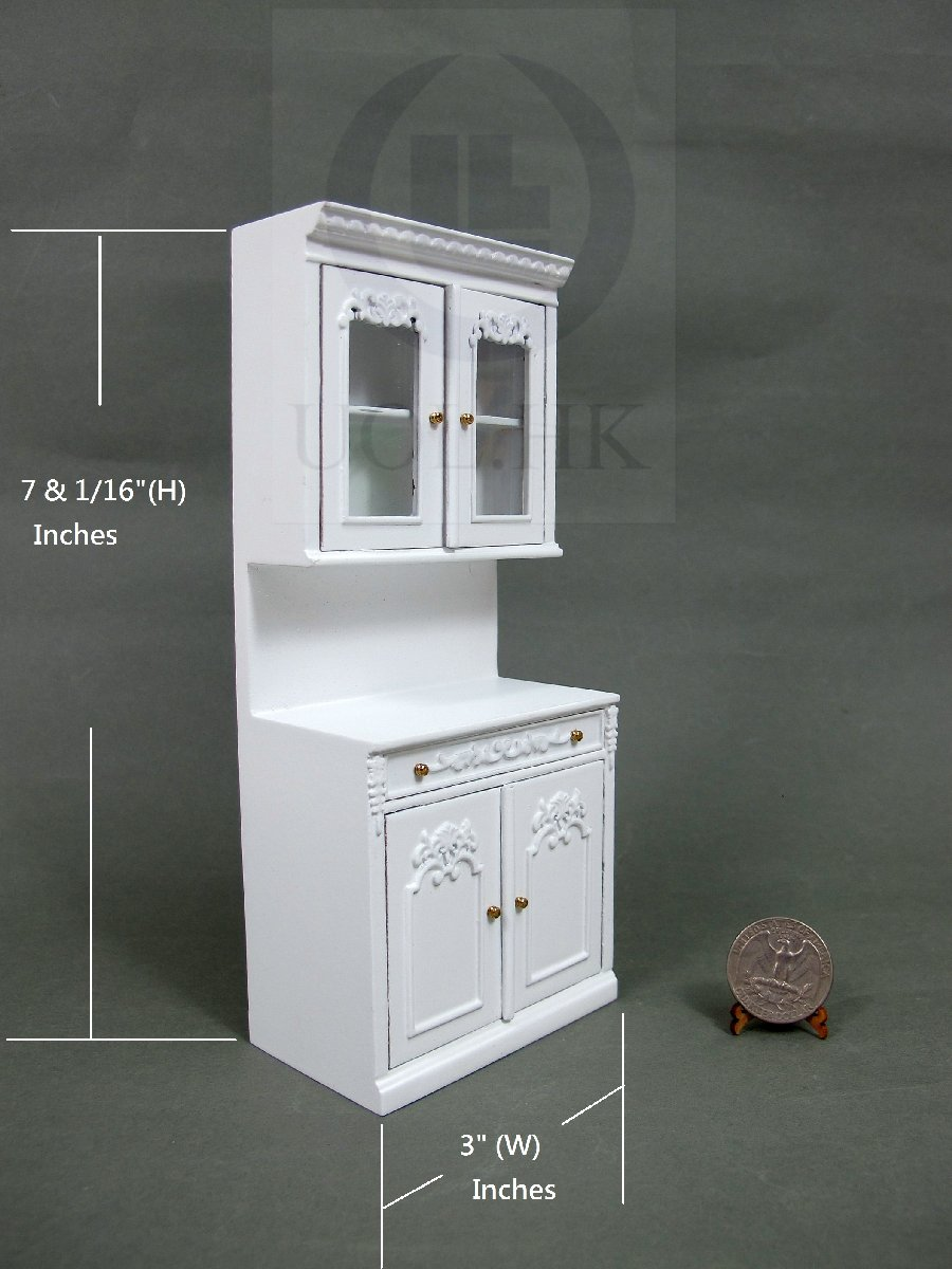 1:12 Scale Miniature French Provincial Kitchen Stock Cabinet[W]