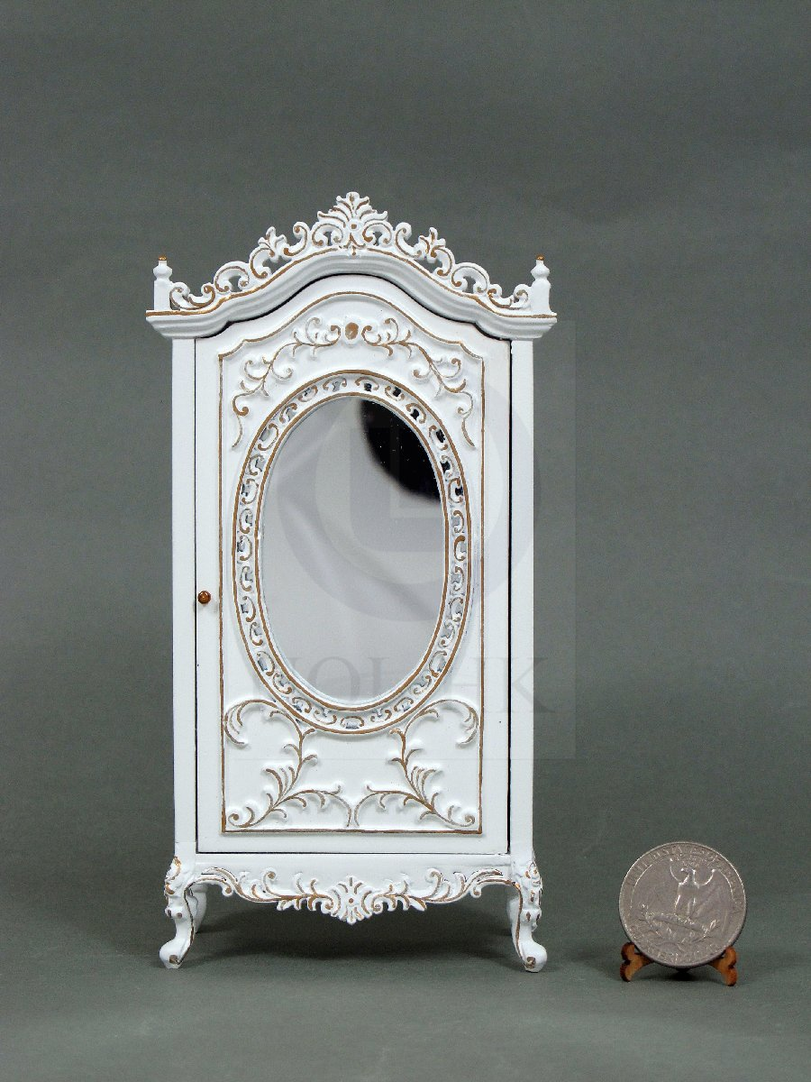 "1:12 Scale Miniature The ""Berit"" Armoire For Doll House [White]"