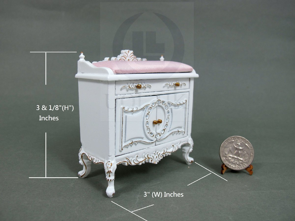 "1:12Scale Miniature The""Berit"" Changing Table For Doll House[W]"