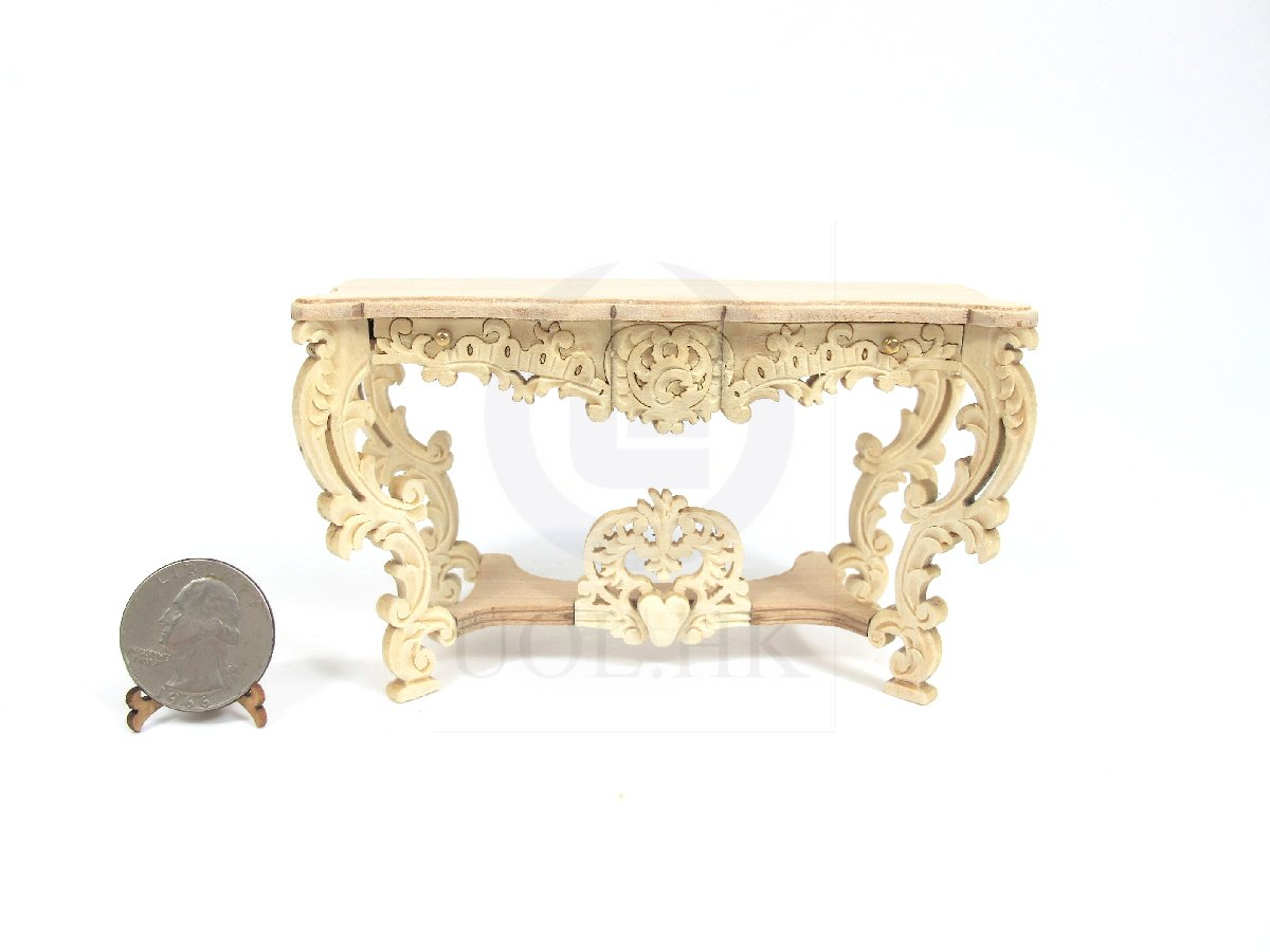 Miniature 1:12 Scale Louis XV Console Table For Dollhouse [UF]