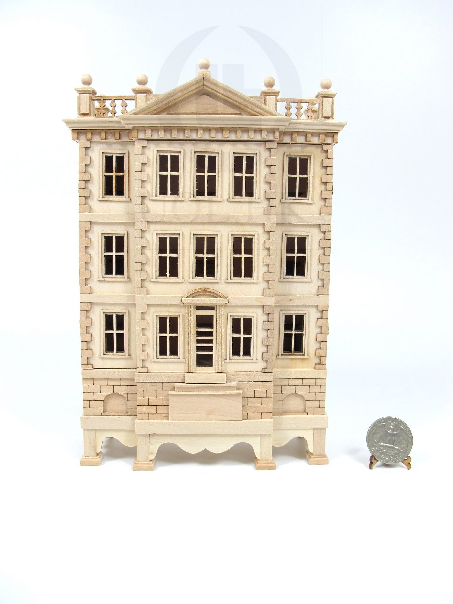 "Miniature Wooden The ""George"" Baby House--Unfinished"
