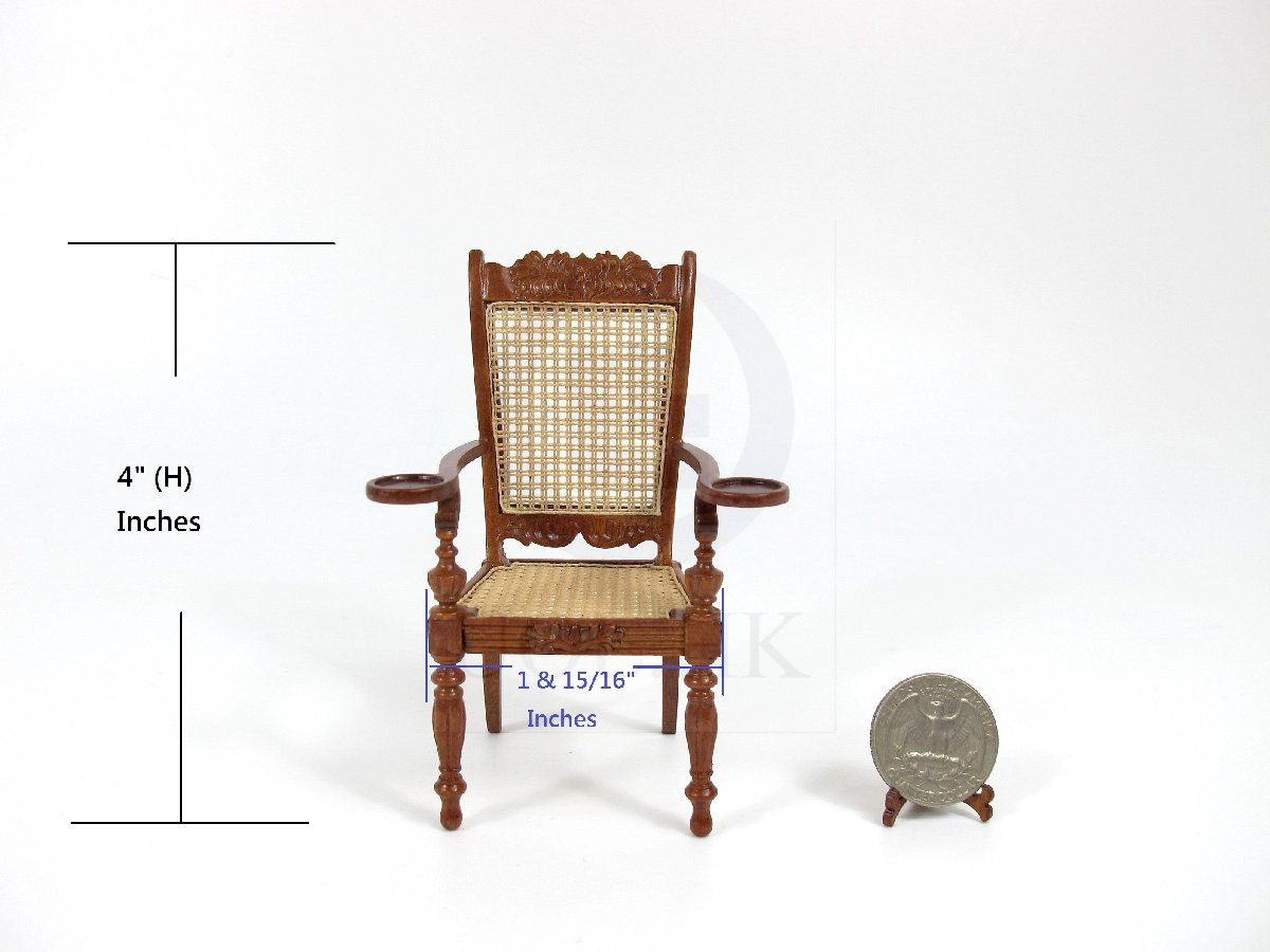"1:12 Scale Miniature The ""Ceylonese"" Armchair For Dollhouse [WN]"