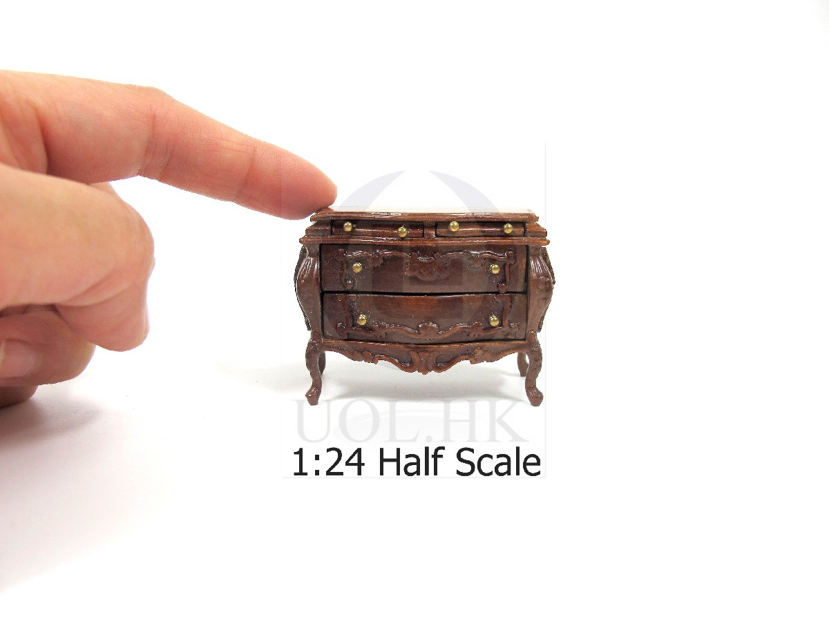 "1:24 Scale Miniature The ""Escala"" Bombay Chest For Doll House-WN"